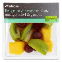 Waitrose melon, mango, kiwi & grapes