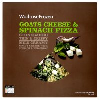 Waitrose Stone Baked goats cheese & spinach pizza