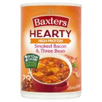 Baxters hearty smoked bacon & three bean