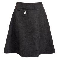 Girls A-line skirt, grey, 11 years