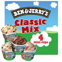 Ben & Jerry's Classic Mix 4 Mini Cups