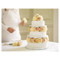 Soft Iced Wedding Cake - Vanilla Sponge - 3 Tier
