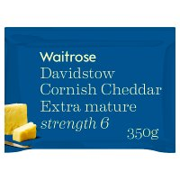 Waitrose Cornish Cheddar Extra Mature Strength 6