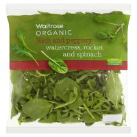 Organic watercress, rocket & spinach