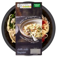 menu from Waitrose chilli crab linguine