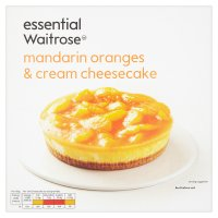 essential Waitrose frozen mandarin & cream cheesecake