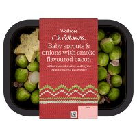 Waitrose Christmas sprouts onions bacon