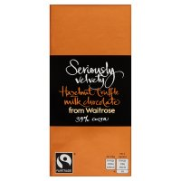 Waitrose Seriously hazelnut truffle milk chocolate