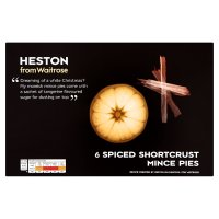 Heston from Waitrose 6 spiced shortcrust mince pies