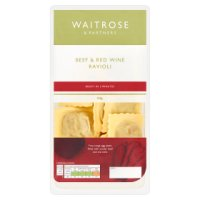 Waitrose fresh pasta beef & red wine ravioli