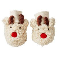 Waitrose REINDEER NOVELTY FUR BOOTIES 12-