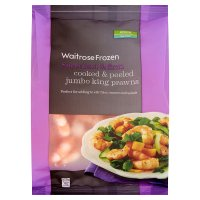 Waitrose Frozen cooked & peeled jumbo king prawns