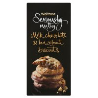 Seriously Nutty milk chocolate & hazelnut biscuits