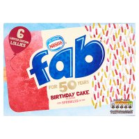 Fab Birthday Cake Flavour Lollies