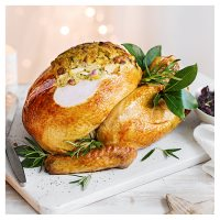 Butter basted turkey with stuffing