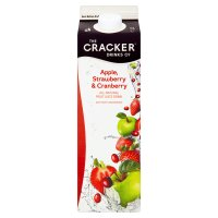 Cracker Drinks Co. apple, strawberry & cranberry juice drink