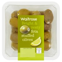 Waitrose feta stuffed olives in lemon dressing