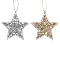 Waitrose Glitter Star Silver/Gold
