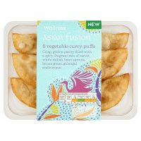 Waitrose Asian fusion 6 vegetable curry puffs