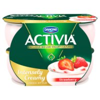 Activia Intensely Creamy sumptuously strawberry yogurts