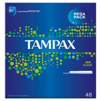 Tampax Super Applicator Tampon Single 48PK