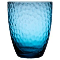 Waitrose Dimple Glass Tumbler Teal