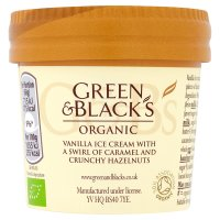 Green & Black's organic vanilla caramel nut ice cream