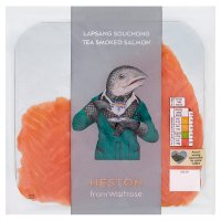 Heston from Waitrose lapsang souchong tea smoked salmon minimum 4 slices