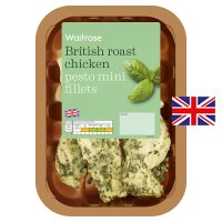 Waitrose British roast chicken pesto mini fillets