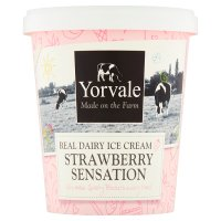 Yorvale ice cream strawberry