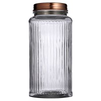 Waitrose Glass Jar with Copper Lid Large