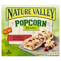 Nature Valley popcorn cranberry and yogurt