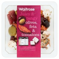 Waitrose olives, feta and tomatoes