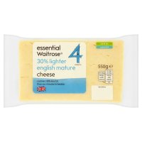 essential Waitrose 30% Lighter English Mature Cheese