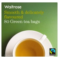 Waitrose fairtrade green tea bags