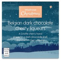 Waitrose Christmas Belgian Dark Chocola Cherry Liqueurs