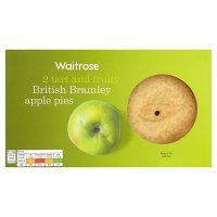 Waitrose 2 British Bramley apple pies