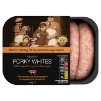 Porky Whites Surrey pork sausages