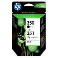 HP 350/351 black and colour ink cartridge, pack of 2