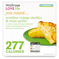 Waitrose LOVE Life you count  Crustless vintage cheddar and onion quiche