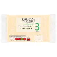 essential Waitrose English Medium Cheddar Strength 3