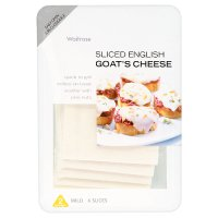 Waitrose English mild goat's cheese, strength 2, 6 slices