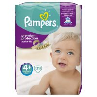 Pampers Active Fit S 4+ Carry 22 Nappies