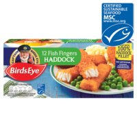 Birds Eye 12 haddock fish fingers