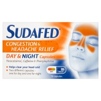 Sudafed congestion day & night capsules