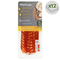 Waitrose farm assured Spanish chorizo, 12 slices