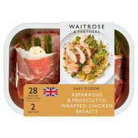 Waitrose Easy To Cook asparagus & prosciutto ham chicken breasts