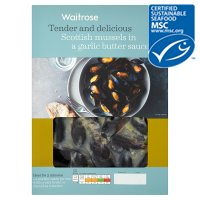 Waitrose MSC Scottish mussels in a garlic butter sauce