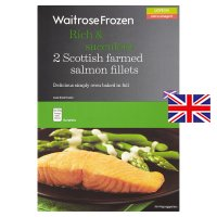 Waitrose Frozen 2 Scottish farmed salmon fillets