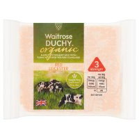 Waitrose Duchy Organic medium Red Leicester cheese, strength 3
